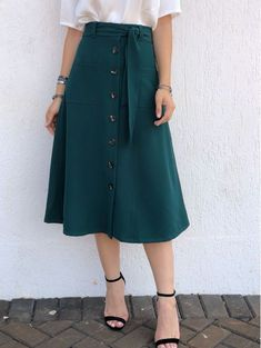 Swans Style is the top online fashion store for women. Shop sexy club dresses, jeans, shoes, bodysuits, skirts and more. Modest Dresses, Modest Outfits, Skirt Outfits, Modest Fashion, Dress Skirt, Fashion Dresses, Casual Outfits, Dress Up, Cute Outfits