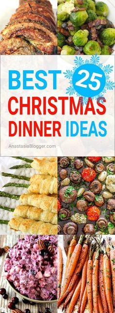 Christmas Dinner Menu Ideas – easy and elegant traditional, Italian and Southern Christmas Dinner menu, including sides, buffet, dessert, etc. #christmasrecipies #christmasrecipies #christmasfoodideasfordinner
