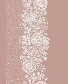 Line Art Flowers, Flower Art, Lace Flowers, Hand Embroidery Designs, Embroidery Patterns, Border Embroidery, Pattern Art, Pattern Design, Lace Design
