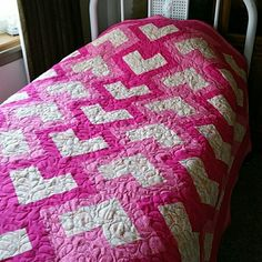 Handmade quilted Quilt Sweetheart quilted Quilt.  Different colors of pink Handmade quilted Quilt  Other