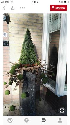 Modern idea for Front door entrance Yule/ Christmas/Holiday /W. Modern idea for Front door entrance Yule/ Christmas/Holiday /Winter arrangements! Yule, Christmas Decorations For The Home, Xmas Decorations, Holiday Decorating, Outdoor Decorations, Rustic Christmas, Christmas Holidays, Winter Holiday, Christmas Trees