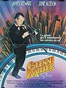 The Glenn Miller Story (1954)  The biography of the Bandleader Glenn Miller from his beginnings to his death over the English Channel in December 1944, with a lot of his arangements, partly in an authentic cast. James Stewart, June Allyson, Harry Morgan