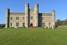 Croquet infront of the Castle #croquet #1930s #Castle