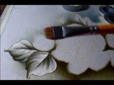 Dica - Pintura de Tecido Folhas Nº 02 - Fácil - Iniciante - Combinação de Cores - Graça Tristão - YouTube