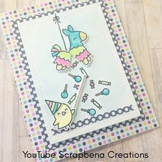 Lawn Fawn | Year 7 | Hope Your Birthday is a SMASH Pinata Card | Love Letters and Love You S'More | Made by Jenn (YouTube Scrapbena Creations)