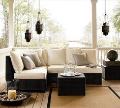 porch furniture - amazing!  Love the black and white