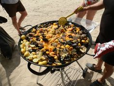 Paella on the fire