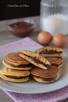 DORAYAKI ALLA NUTELLA troppo golosi!! Ricetta con VIDEO #dorayaki #food #cibo #nutella