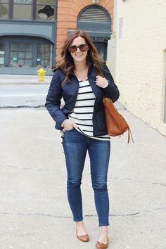 jillgg's good life (for less)   a west michigan style blog: my everyday style: classic navy! #navy #stripes #classicoutfit #preppystyle #easymomoutfit