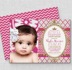 princess invitation FAST customize pink gold por AmysSimpleDesigns