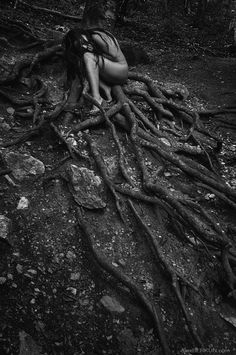 roots by Alex BERKUN on (You shall renew, I promise) - - Fantasy Photography, Artistic Photography, Nude Photography, Black And White Photography, Photoshop Photography, Photographie Art Corps, Dark Fantasy, Dark Art, Pictures