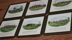 Golf Set of Six Drinks Coasters in Original Box Classic English Style by AtticBazaar on Etsy St Anne, Saint George, English Style, Drink Coasters, Golf, The Originals, Drinks, Classic, Etsy
