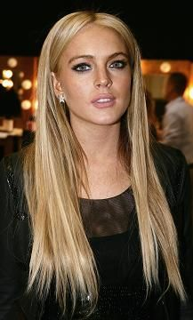 Lindsay Lohan - hair extensions this is about the length and color i want mine just more brown then blonde