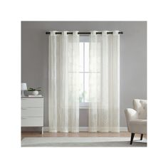 Vcny 2-pack Empire Embroidered Sheer Curtain, Multicolor