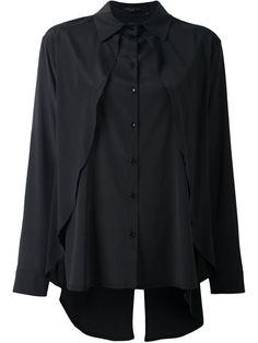 Shop Federica Tosi cape effect shirt in Degli Effetti Women from the world's best independent boutiques at farfetch.com. Shop 400 boutiques at one address.