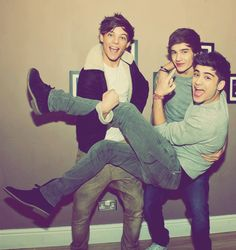 Louis, Liam and Zayn. Being adorable, as usual.