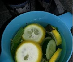 Metabolism boost detox- gallon of water, 1 lemon, 1/2 cucumber, 10-12 mint leaves.