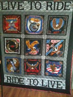 1000 Images About Harley Davidson Quilts On Pinterest