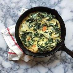 5-ingredient Sweet Potato Kale Frittata (plus salt and pepper) - Perfect anytime on Phase 3, I-Burn, or D-Burn.