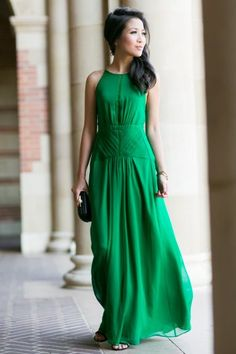 Green Dress   The Tres Chic