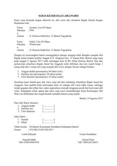 Contoh Surat Jual Beli Rumah Warisan Keluarga - Berbagi ...