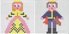 Prince and Princess perler bead pattern