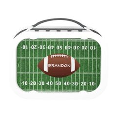 Football Field and Ball Design Lunchbox