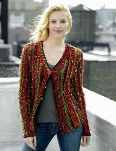 Side to Side Cardigan pattern by Shiri Mor - N.Y. Yarns Marble - (The pin I posted a few weeks ago is no more available, please use this)