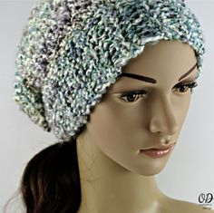 Simply Scrumptious Slouch Hat by Oombawka Design  Published in Oombawka Design by Rhondda Craft Crochet Category Hat → Other Published August 2015 Suggested yarn Lion Brand Homespun Yarn weight Bulky / 12 ply (7 wpi) ? Gauge 2.1 stitches = 2.5 cm Hook size 7.0 mm Yardage 180 - 185 yards (165 - 169 m) Sizes available Teen-Adult