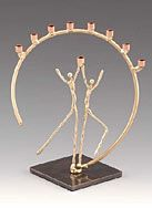 Infinity Art in Metal Circle of Life Menorah
