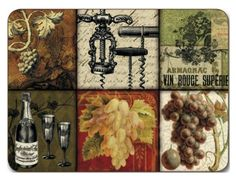 """Jason Winemaker's Legacy Placemats - Set of 4 (Large) by Jason. $39.44. Durable, heat sealed surface. Gift Boxed. Size: 17"""" x 11.5"""". Hardboard, Cork backed. Heat resistant to 225ºF. Attractive top quality placemats by Jason of New Zealand. The hardboard and cork is sourced from renewable resources. The edges are heat sealed, the surface is smooth and the cork backing will protect your table. Just wipe clean with a damp cloth."""