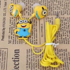 Universal 3.5mm in-ear style earphone for various cellphones and other digital devices Stylish and cute The Minion Pattern Come with 3 pairs of silicone cover for protecting your earplug Superior sound and good quality