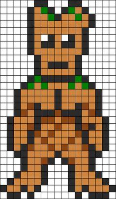 Groot - Guardians Of The Galaxy perler bead pattern