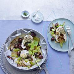 Rezept: Hechttranchen auf Maronen-Pilz-Gemüse