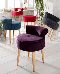 Bedroom Stools, Accent Chairs, Dining Chairs, Furniture, Vanity, Home Decor, Lilac, Nail Bar, Living Room Ideas