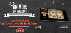 Petit chèvres frais enrobés de lard fumé. #Soignon #fromage #chevre