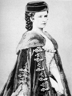 This illustration of Empress Elisabeth in a wonderful example of a mantle worn in the nineteenth century.