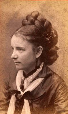 1870s Hair - huge plait. I imagine this is all her hair.
