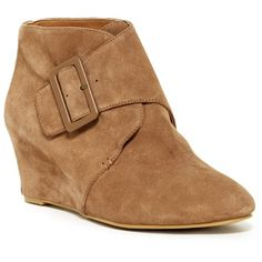 Nine West Islandia Suede Bootie ($50) ❤ liked on Polyvore featuring shoes, boots, ankle booties, ankle boots, taupe su, suede ankle booties, suede bootie, taupe boots and taupe ankle boots