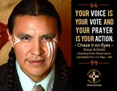 Chase Iron Eyes grew up on Standing Rock Reservation where the fight against the pipeline is happening. He's been a long time activist and is now running for U.S. Representative, ND At-large District.  #NoDAPL #DakotaAccessPipeline