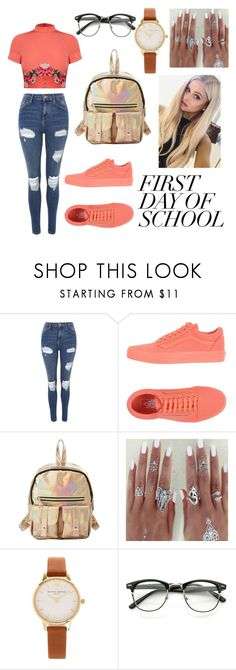 """Untitled #1122"" by alma06 ❤ liked on Polyvore featuring Topshop, Vans, Charlotte Russe and Olivia Burton"