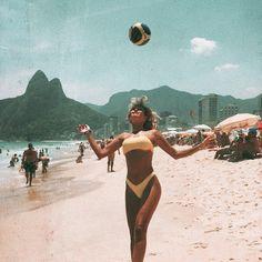 Brazilians do it better ⚽️🇧🇷 Beach Aesthetic, Summer Aesthetic, Aesthetic Vintage, Aesthetic Girl, Foto Cartoon, Brazil Culture, Foto Pose, Bikini Beach, Aesthetic Pictures