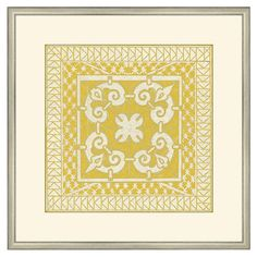 Create a charming focal point in your foyer, living room, or master suite with this eye-catching print, showcasing a geometric tile design. Made in the USA. ...