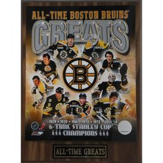 This is a Collectable Plaque for the old time fans that remember the greats of the team. Brings back memories of the Boston Bruins that you've kept in your hearts and minds. Brand: Bruins PL Model: Br