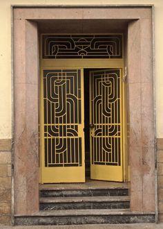 Art deco door mexico city city art deco and doors gold doors in casablanca morocco sciox Images