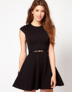 ShopStyle: Club L Fit And Flare Dress With Bow Belt