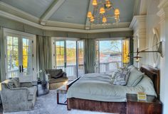 Dream bedroom that opens up onto a wrap around upper deck. Oh, and it has a lake view ... yep .. did I say dream bedroom?