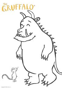 The Gruffalo Kidtoons coloring sheet.
