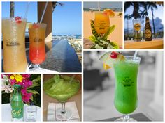 Tasty, fruity drinks, perfect for the beach at the St. Kitts Marriott Resort!