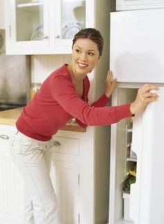 Removing mold and mildew from a nasty fridge. You can also use white vinegar to ensure mold spores are killed.